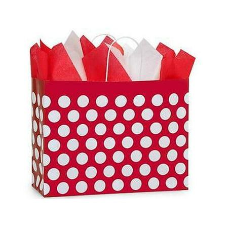 1 Unit Vogue Red Polka Dots Paper Bags Mini Pk 16x6x12 2
