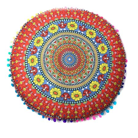 Indian Mandala Floor Pillows Round Bohemian Cushion Cushions Pillows Cover Case Indian Mandala Floor Pillows Round Bohemian Cushion Cushions Pillows Cover CaseFeature:100%brand new and high quality.Quantity:1PCShape:RoundMaterial:PolyesterSize:Diameter:43*43cm/(17.0*17.0 )Package Content1PC Indian Mandala Floor Pillows Round Bohemian Cushion Cushions Pillows Cover Case