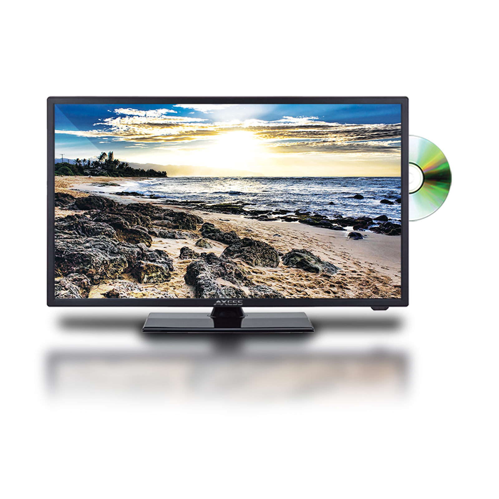 Axess 24-Inch 1080p Digital LED Full HDTV, Includes AC/DC TV, DVD Player, HDMI/SD/USB Inputs, TVD1803-24