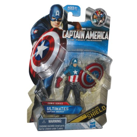 Marvel Captain America Ultimates Comic Series Figure w/ Dual Blade Shield