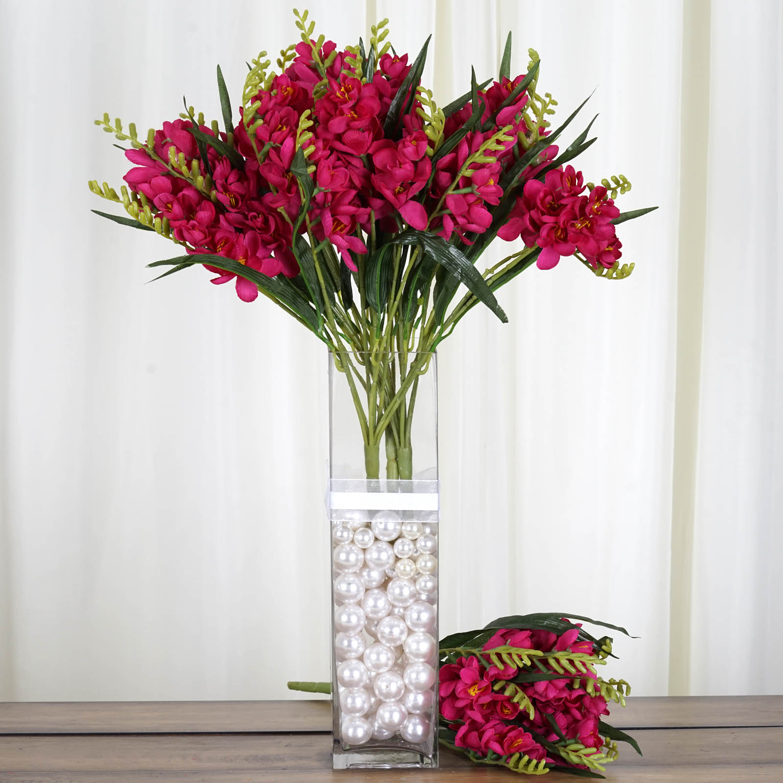 BalsaCircle 216 Silk Freesia Silk Flowers - DIY Home Wedding Party Artificial Bouquets Arrangements Centerpieces