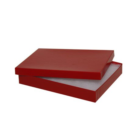 Jewelry Gift Box, 5 5/8 x 7 1/8 x 1, Red, Sold Individually