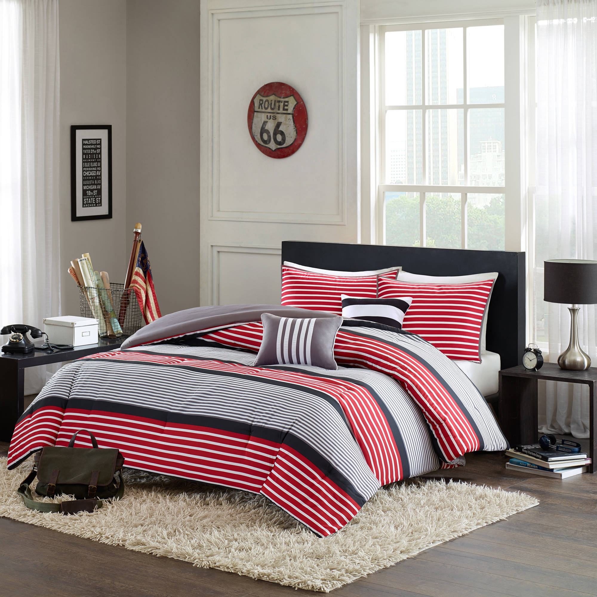 Home Essence Apartment Blain Comforter Set