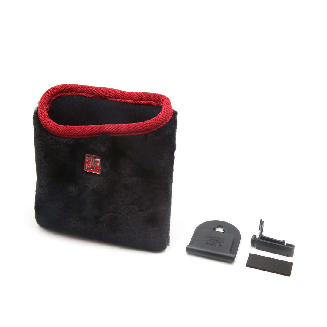 Auto Car Air Vent Cell Phone Mount Storage Bag Pouch Holder Organizer Red Black