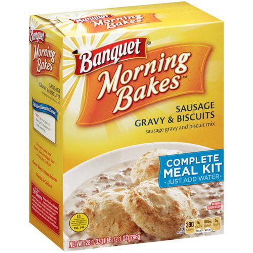 Banquet Morning Bakes Sausage Gravy & Biscuits Mix, 28.1 oz