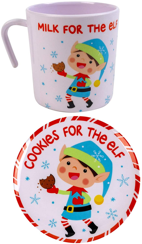 Christmas Plates With Christmas Mug 2 Piece Set Cookies For Santa Elf Reindeer Christmas Cookie Platter Christmas Cookie Plate And Christmas Cup Christmas Serveware Elf Walmart Com Walmart Com