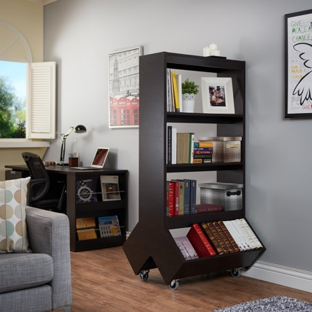 Sensational Furniture Of America Yodell Contemporary Espresso Bookcase Room Divider Display Cabinet Download Free Architecture Designs Grimeyleaguecom