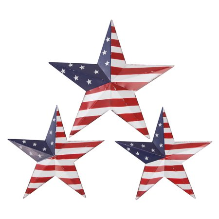 American Flag Barn Stars by Fox River Creations, 3-Piece Set