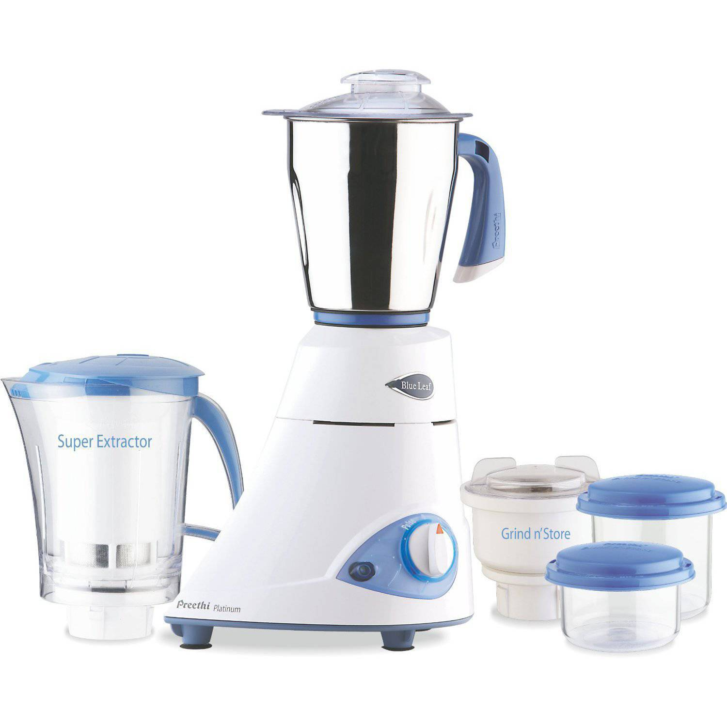 Preethi Blue Leaf Platinum Mixer Grinder, 110-Volts