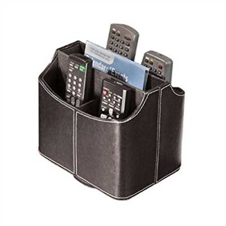 Stock Your Home Spinning Remote Control Organizer Caddy Media Organizer Electronic Organizer Remote Caddy Black ()