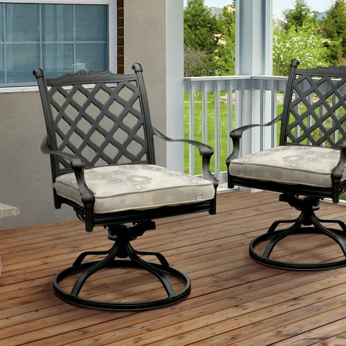 Darby Home Co Kipling Patio Chair with Cushion (Set of 2)