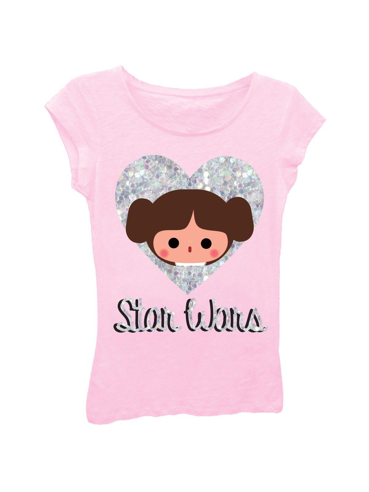 Star Wars The Last Jedi Chewbacca Porg Friends Girls Graphic T Shirt