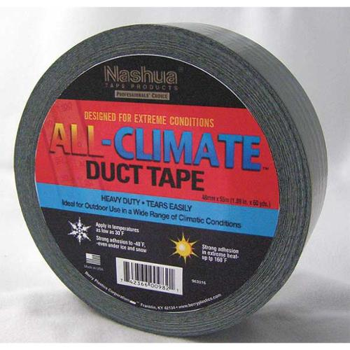 NASHUA 675003 Duct Tape, 48mm x 55m, 9 mil, Black