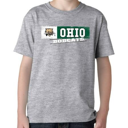 J2 Sport Ohio Bobcats NCAA Youth Sticker T-shirt - Halloween University Heights Ohio
