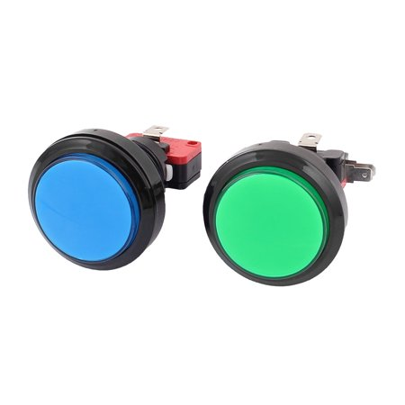 23mm Dia Thread Panel Mounting Arcade Game Machine Push Button Switch 2Pcs