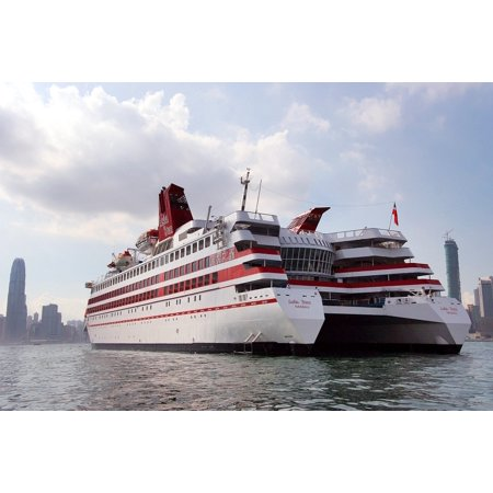 Canvas Print Ship Catamaran Cruise Liner Sailing Asia Star Stretched Canvas 10 x