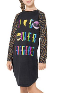 power rangers girls holographic nightgown