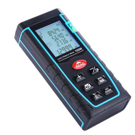 Laser Measure - 328ft Laser Distance Measure with LCD Backlight Display Design Handheld Laser Distance Meter Portable Multi-functional Measure