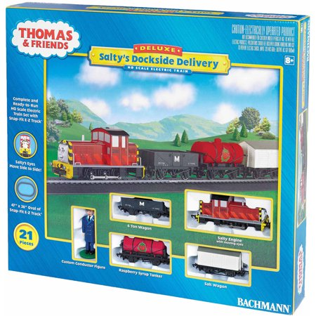 Bachmann Trains Thomas and Friends Salty's Dockside Delivery, HO Scale Ready-to-Run Electric Train Set
