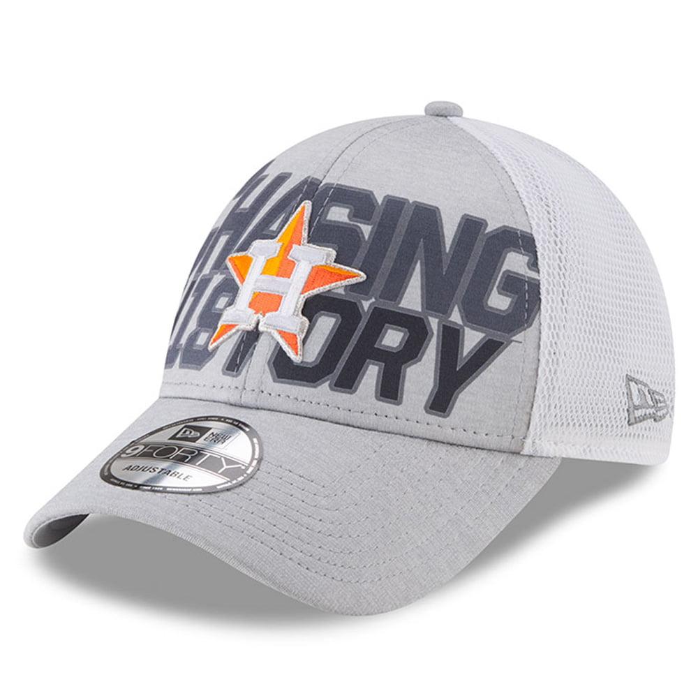 Houston Astros New Era 2018 Division Series Winner Locker Room 9FORTY Adjustable Hat - Gray - OSFA