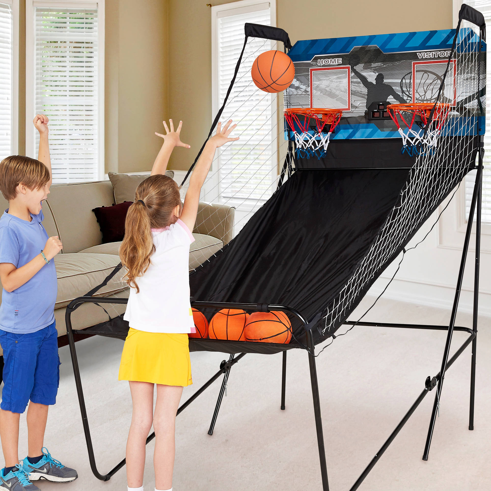 MD Sports 2-Player Arcade Basketball Game with 8-in-1 Game