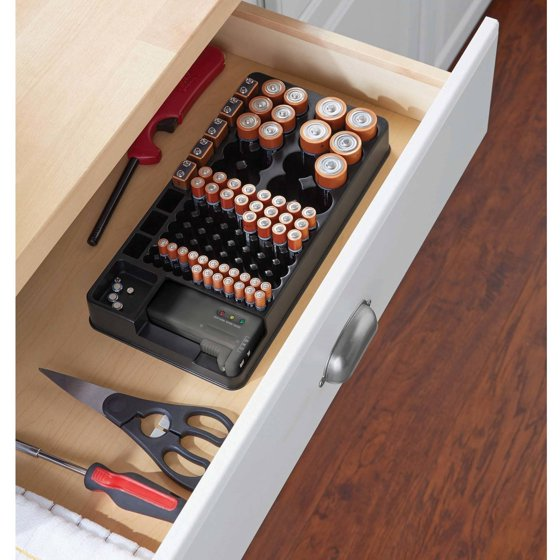 Battery Testers Walmart : Mainstays battery organizer with tester walmart