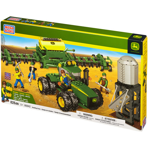 Mega Bloks Hometown John Deere Seeding Crew Building Set