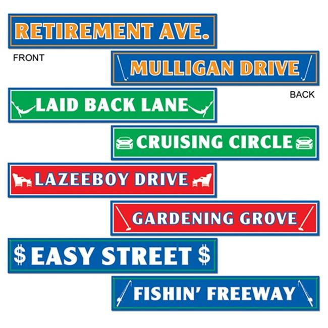 Beistle 54366 Retirement Street Sign Cutouts Pack of 12
