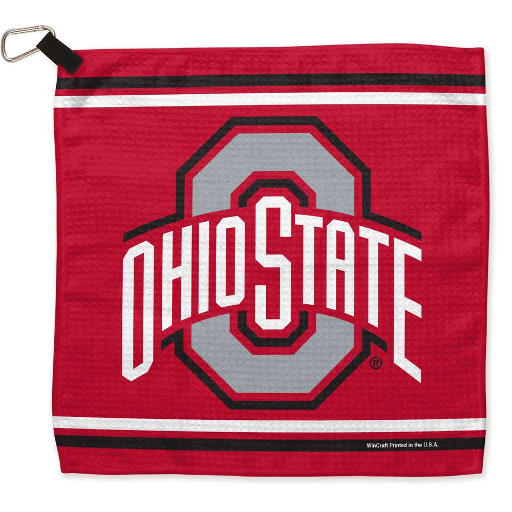 Ohio State Buckeyes Official NCAA 13 inch  x 13 inch  Golf Waffle Towel by WinCraft