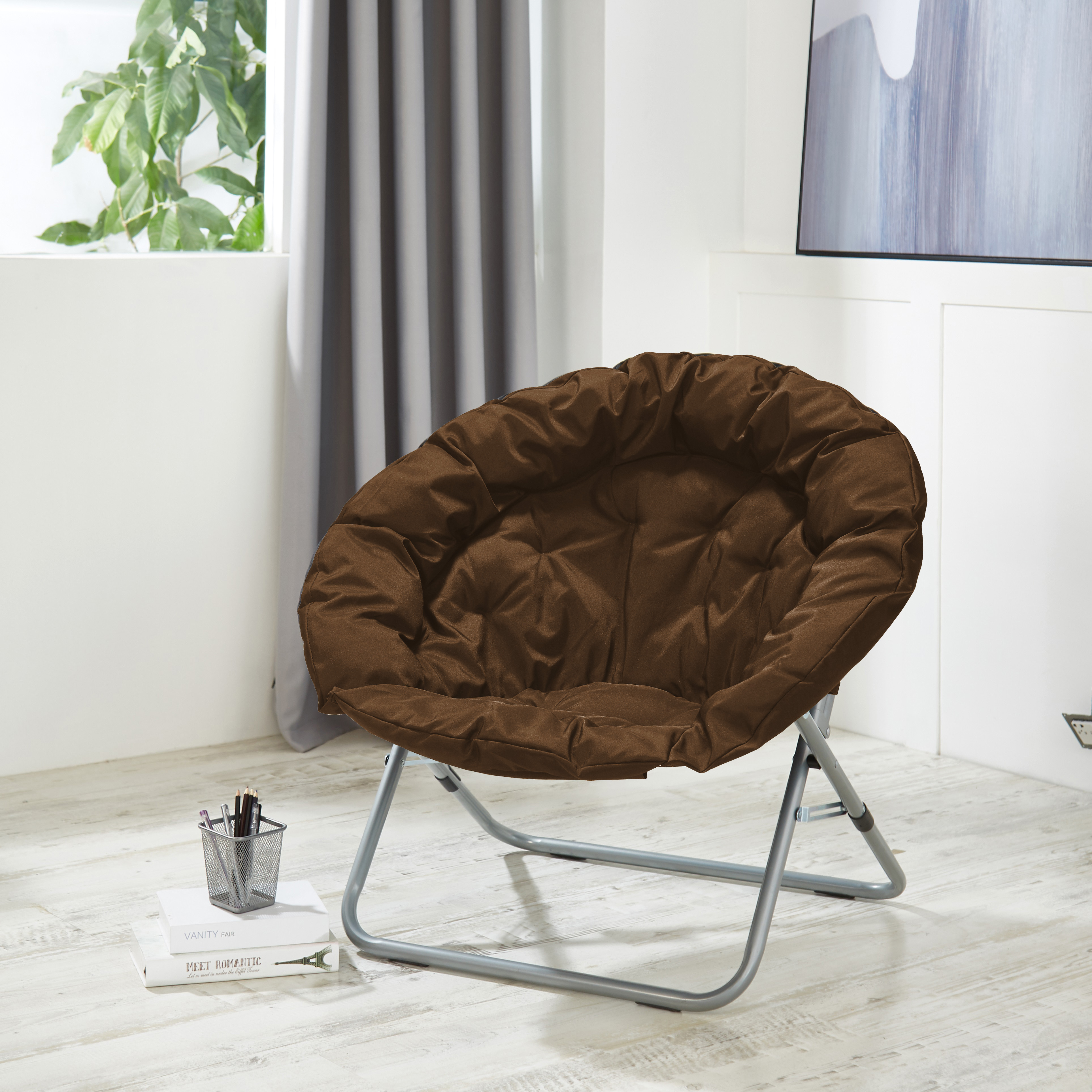 Urban Shop Oversized Moon Chair, Available in Multiple Colors
