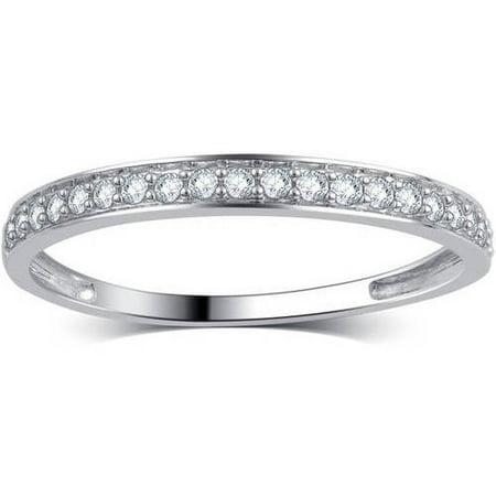 1/5 Carat T.W. Round Diamond 10kt White Gold Wedding Band, I-J/I2-I3