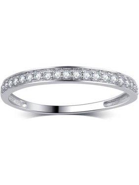 Product Image 1 5 Carat T W Round Diamond 10kt White Gold Wedding Band I J I2