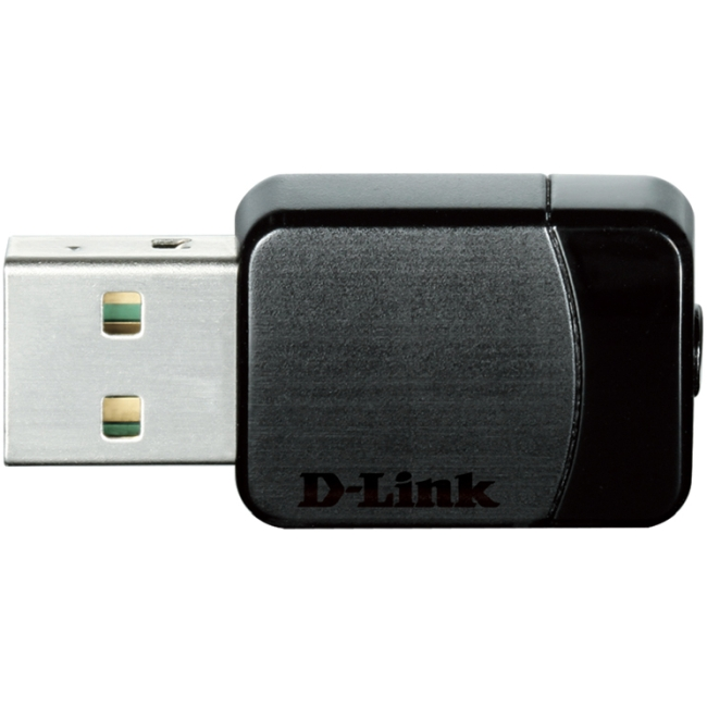 D-Link DWA-171 IEEE 802.11ac - Wi-Fi Adapter for Desktop Computer/Notebook - USB - 433 Mbit/s - 2.40 GHz ISM - 5 GHz UNII - External