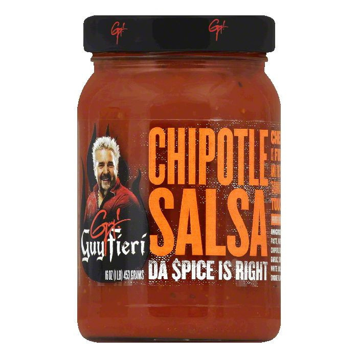 GUY FIERI, SALSA CHIPOTLE, 16 OZ, (Pack of 6)