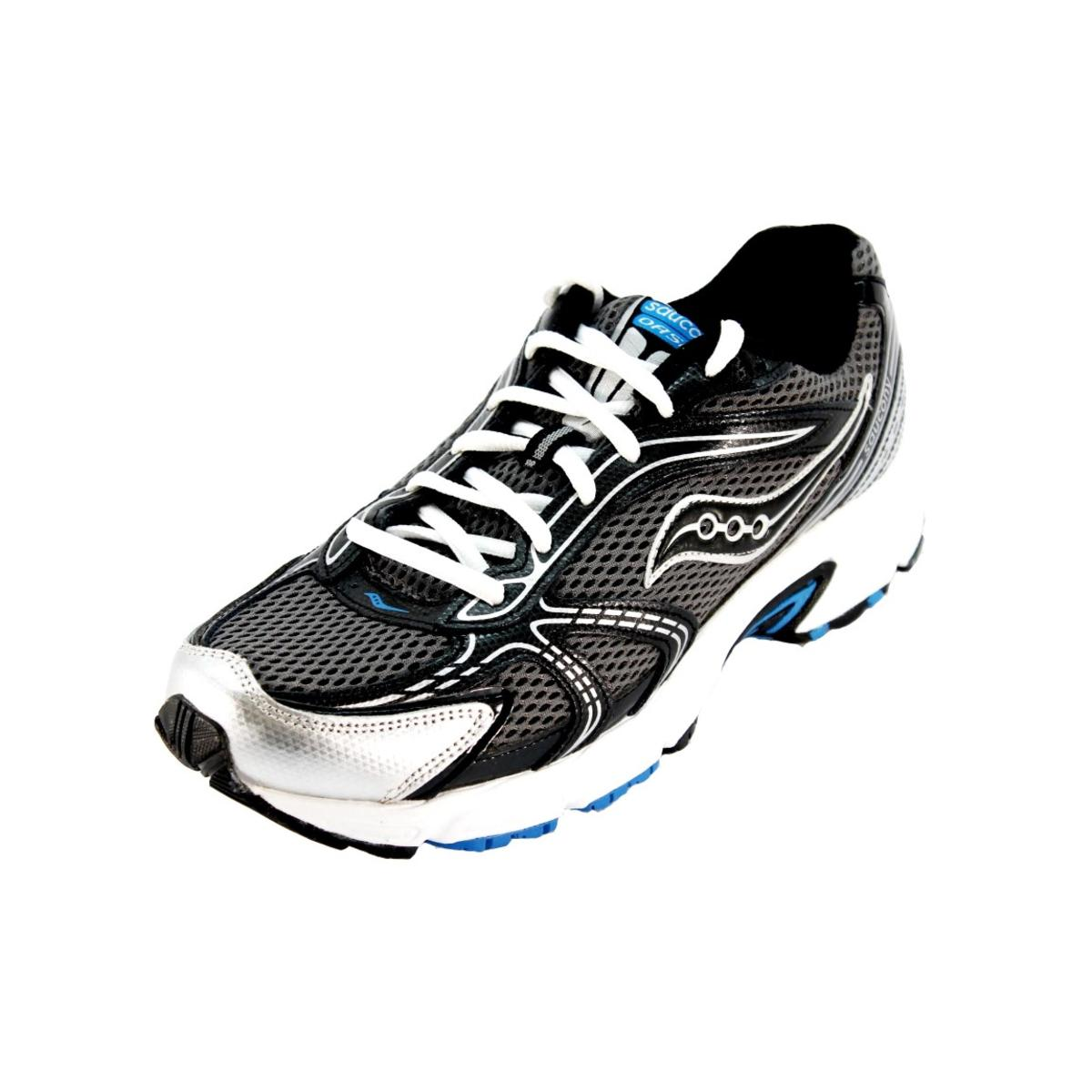 Saucony Oasis Mens Grey Black Blue Sneakers by Saucony