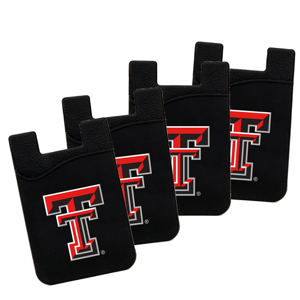 Texas Tech Red Raiders Silicone Card Keeper Phone Wallet 4 PACK NCAA
