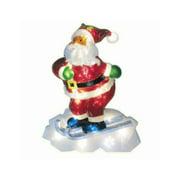 B/O Pure White LED Twinkling Santa Claus Christmas Yard Art Decoration