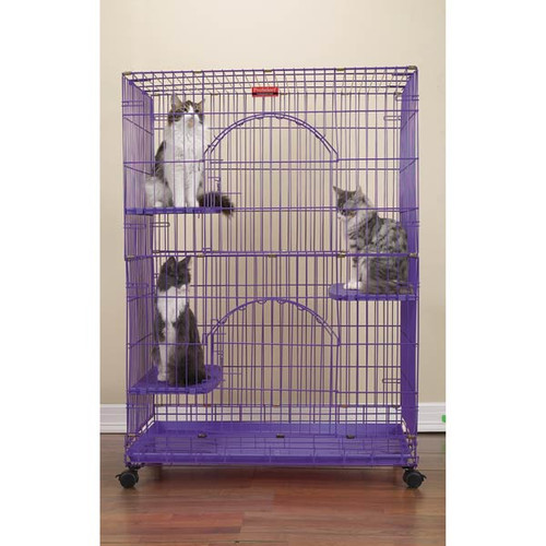Proselect Foldable Cat Cage 35.5lx24wx48 Pur