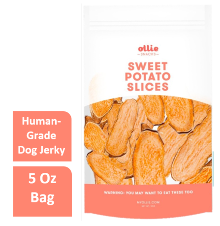 Ollie Pets Grain Free Sweet Potato Slices Dehydrated Dog Treat, 5 Oz