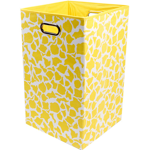 Modern Littles Rusty Folding Laundry Basket, Giraffe