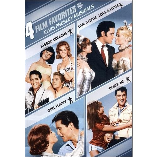 4 Film Favorites: Elvis Presley Musicals Kissin' Cousins   Live A Little, Love A Little   Girl Happy   Tickle... by WARNER HOME VIDEO