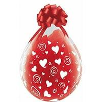 """Burton & Burton 18"""" Swirling Hearts Around, Pack/25 Balloons"""