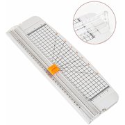 Jielisi 12 inch Paper Trimmer, A4 Size Paper Cutter with Automatic Security Safeguard for Coupon, Craft Paper and Photo, White