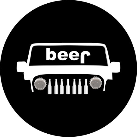 jeep beer bottle Spare Tire Cover (Beer Covers)