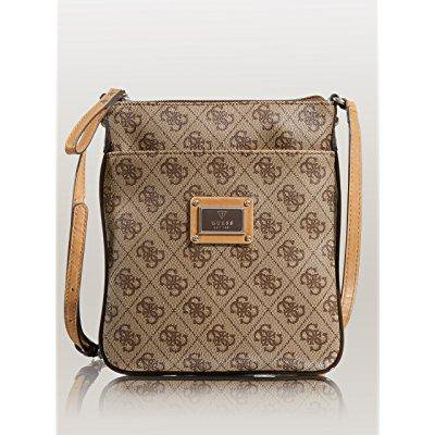 372099055e1a GUESS - guess women s scandal mini crossbody brown crossbody bag ...