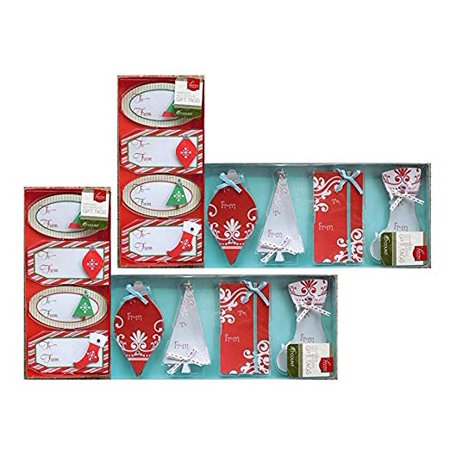 Handmade Christmas Gift Tags, Adhesive Sticker Labels (64 count) ()