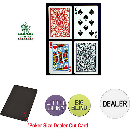 Trademark Poker Poker-Sized Plastic Playing Cards and Dealer Kit by TRADEMARK GAMES INC