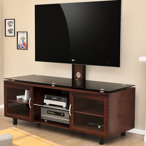 "Positano TV Stand with Integrated Mount for TVs up to 70"", Espresso"
