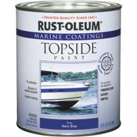 Rust-Oleum Marine Coatings Topside Marine Paint Gloss Navy Blue, Quart