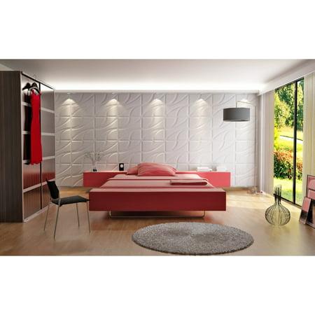 3D Wall Panels Root Design - Box of 10 panels (Each panel 2.67sqft / Box of 26.67 sqft) ()
